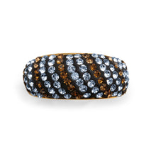Load image into Gallery viewer, Gold over Bronze Crystal Stripe Ring