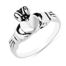 Load image into Gallery viewer, Sterling Silver Irish Claddagh Ring
