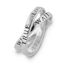Load image into Gallery viewer, Sterling Silver 'True Love Waits' Purity Ring
