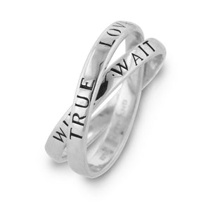 Sterling Silver 'True Love Waits' Purity Ring