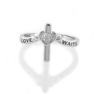 """Love Waits"" Diamond Purity Ring"
