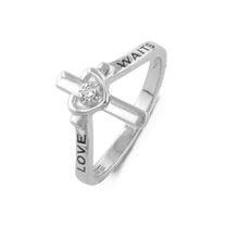 "Load image into Gallery viewer, ""Love Waits"" Diamond Purity Ring"