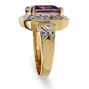 5.00 Carat tw Amethyst Cocktail Ring in Gold Over Sterling Silver