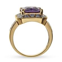 Load image into Gallery viewer, 5.00 Carat tw Amethyst Cocktail Ring in Gold Over Sterling Silver
