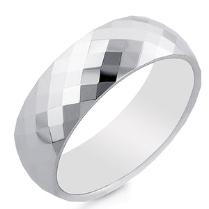 Men's Tungsten 8mm Round Comfort-Fit Wedding Ring