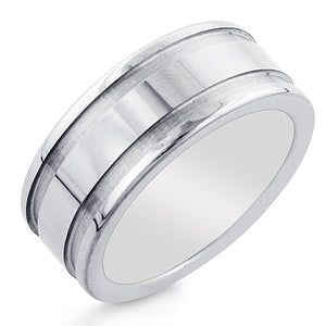 Men's Tungsten 9mm Round Comfort-Fit Wedding Ring