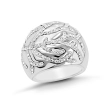 Load image into Gallery viewer, Branch motif crystal Stainless Steel Ring