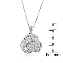 Load image into Gallery viewer, Sterling Silver Diamond Love-Knot Pendant