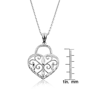 Sterling Silver Hearts Pendant