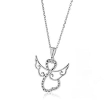 Load image into Gallery viewer, Angel Pendant in Cubic Zirconia and Sterling Silver