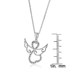Angel Pendant in Cubic Zirconia and Sterling Silver