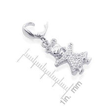 Load image into Gallery viewer, Sterling Silver Diamond Accented Baby Girl Charm