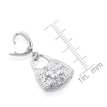 Load image into Gallery viewer, Sterling Silver Diamond Accented Purse Charm
