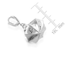 Load image into Gallery viewer, Sterling Silver Diamond Accented Umbrella Charm