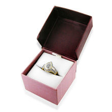 Load image into Gallery viewer, 0.15Ct TW Diamond Teardrop Ring in Gold Plated Sterling Silver