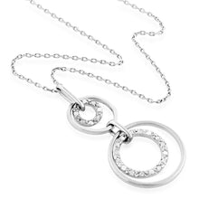 Load image into Gallery viewer, Diamond Accented Circles Pendant in Sterling Silver