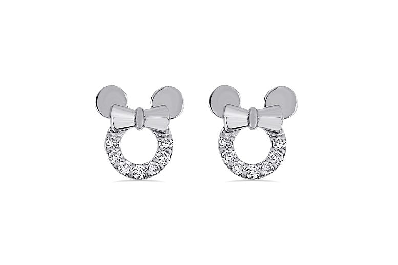 0.38CT diamond Mouse earrings in Sterling Silver
