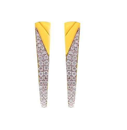 1/2CT Diamond Hoop Earrings in 14K Gold