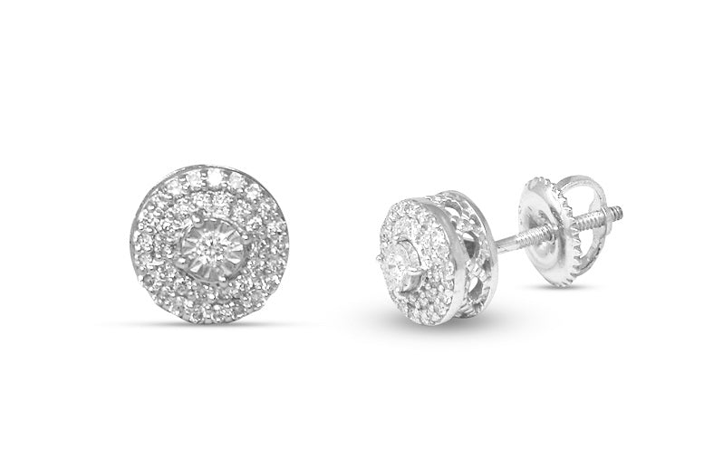 1/4ct diamond Classic Cluster Stud Earrings