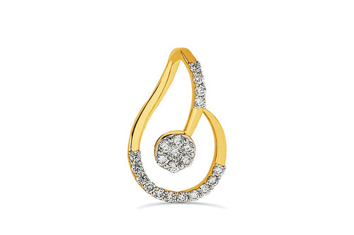 3/8CT Diamond Fashion Pendant in 14K Gold