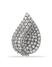 Load image into Gallery viewer, Pear Shaped Cluster pendant with CZ in 925 Sterling Silver