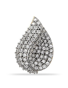 Pear Shaped Cluster pendant with CZ in 925 Sterling Silver