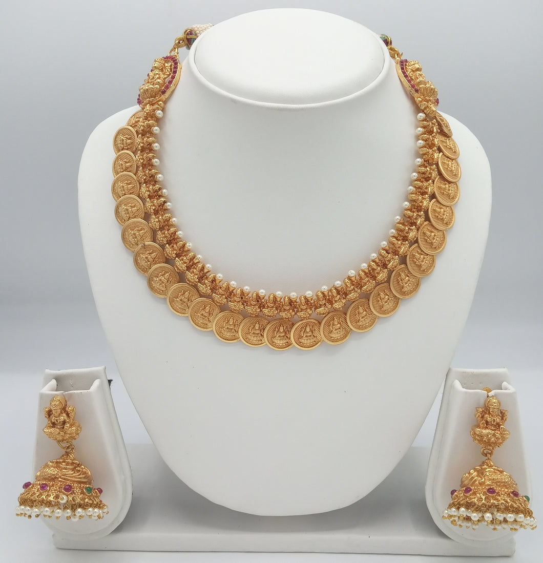 Temple / Bridal Jewellery Necklace Earring Set