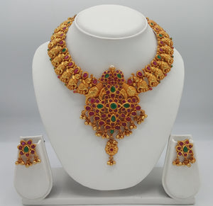 Bridal / Temple Jewellery Necklace Earring Set