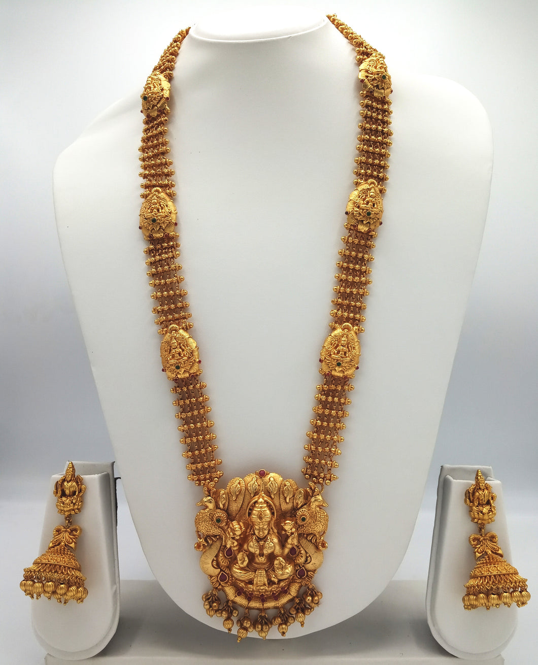 Temple Jewellery Necklace Earring Set