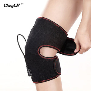 Electric Knee Support Heated Professional Protective Knee Pad Breathable Bandage Knee Brace For Therapy Pain Relief Massager 44