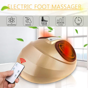 Auto Electric Foot Massager Machine Plantar Relaxing Remote Control 3 Levels Adjust With Remote Controller