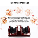 Electric Leg Foot Massage Machine Heating Shiatsu Kneading Roller Vibrator Machine Muscle Release Therapy Rollers Health Care