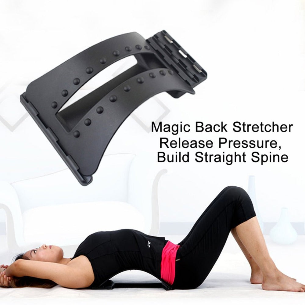 Back Massage Magic Stretcher Fitness equipment Stretch Relax Mate Stretcher Lumbar Support Spine Pain Relief Chiropractic