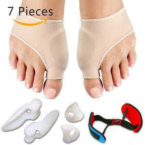 7PCS/SET Bunion Sleeves Hallux Valgus Corrector Alignment Toe Separator Metatarsal Splint Orthotics Pain Relief Foot Care Tool