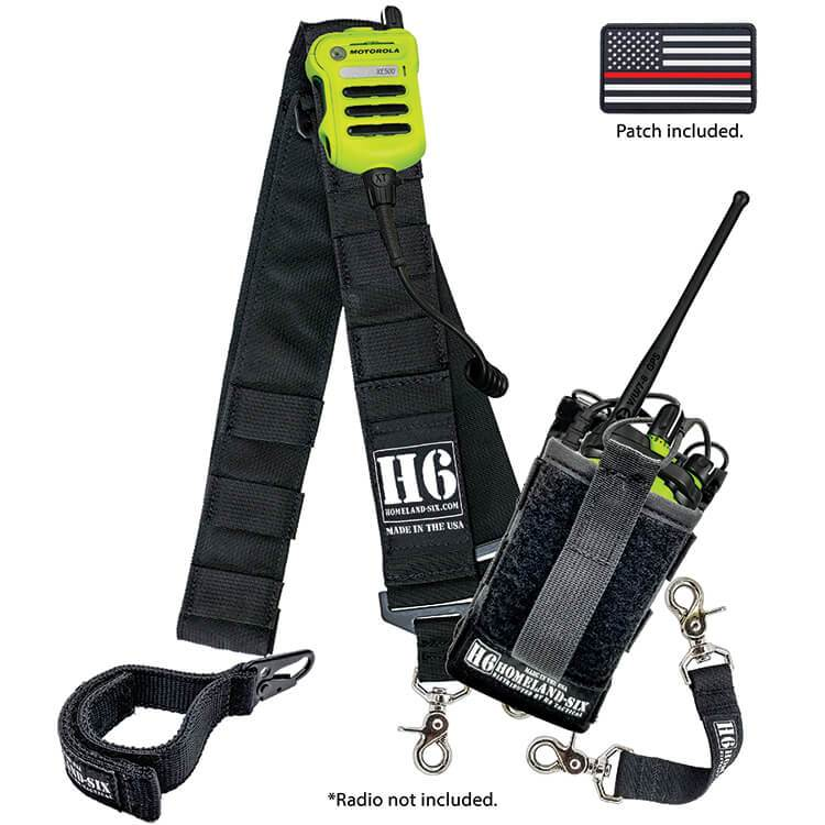 H6 Frontline Radio Strap Kit (Black)