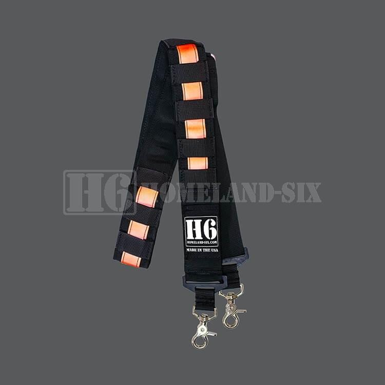 H6 Radio Strap w/ 3M Red/Orange Reflective H6 Radio Straps