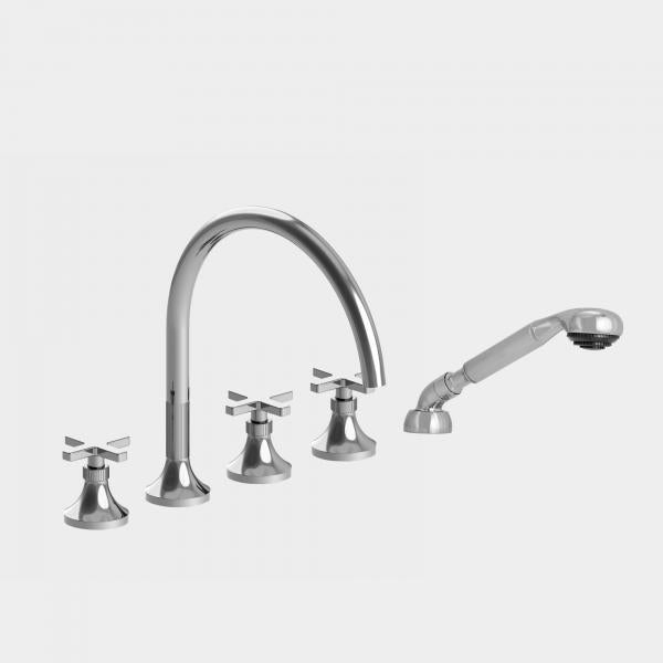 Sigma 1.110893 Roman Tub Set w/Diverter Handshower w/Stella Cross Handles