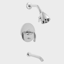 Load image into Gallery viewer, Sigma 1.179268D Pressure Balanced Tub & Deluxe Shower Set w/Prana Handles