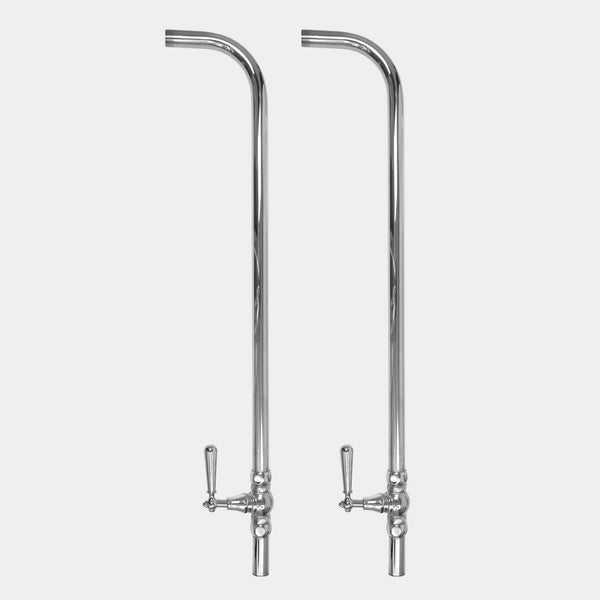 "Sigma 1.1856246 Risers & Shut-Off Kit For Floor Mounting (32"" Tall) w/Loire Handles"