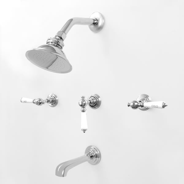 Sigma 1.187633F Three Valve Tub & Shower Set w/Waldorf Handles