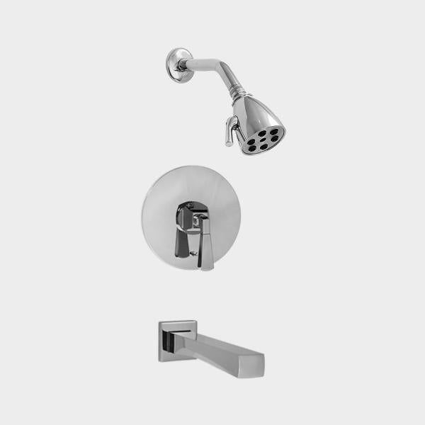 Sigma 1.196068 Pressure Balanced Tub & Shower Set w/Harlow Handles
