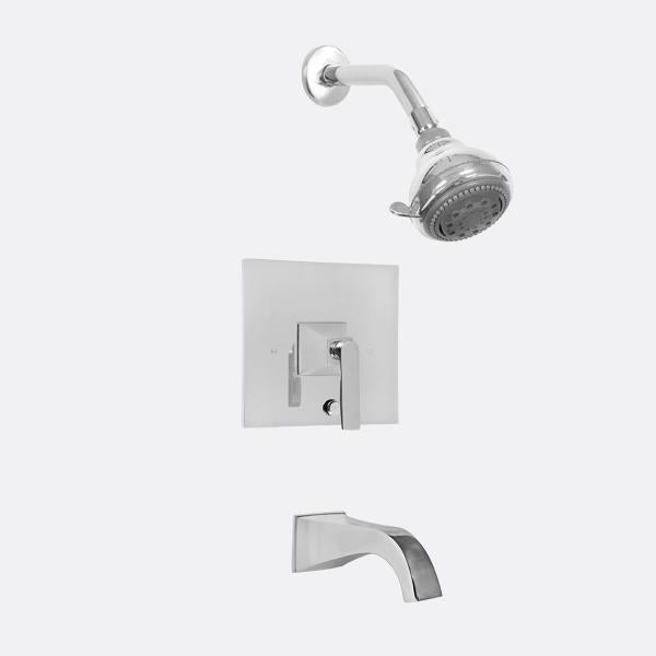 Sigma 1.518368M Pressure Balanced Tub & Shower Set w/Lisse Handles