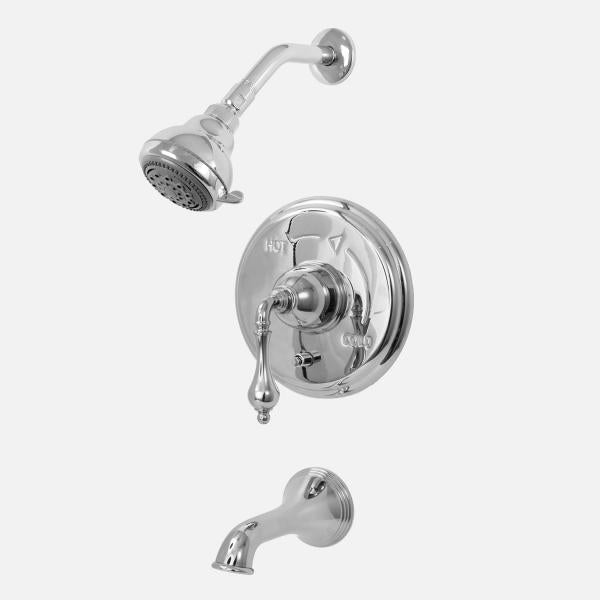 Sigma 1.808168 Pressure Balanced Tub & Shower Set w/Houston Handles