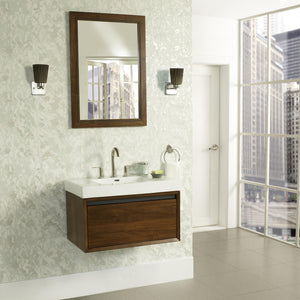 "Fairmont 1505-WV3018 M4 30x18"" Wall Mount Vanity Natural Walnut"
