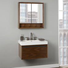 "Load image into Gallery viewer, Fairmont 1505-WV3018 M4 30x18"" Wall Mount Vanity Natural Walnut"