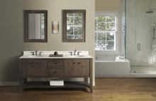 "Load image into Gallery viewer, Fairmont 1516-VH7221D River View 72"" Double Bowl Open Shelf Vanity Coffee Bean"