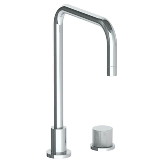Watermark 22-7.1.3-TIA Titanium Deck Mounted 2 Hole Square Top Kitchen Faucet
