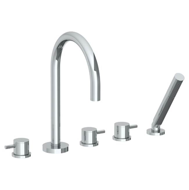 Watermark 22-8.1-TIB Titanium Deck Mounted 5 Hole Gooseneck Bath Set