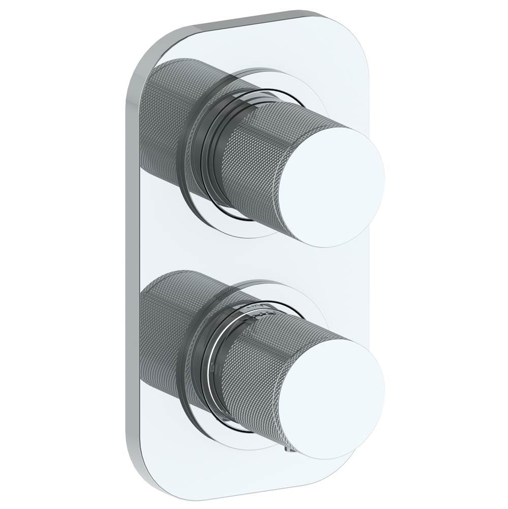Watermark 22-T25-TIA Titanium Wall Mounted Mini Thermostatic Shower Trim With Built-In Control 3-1/2
