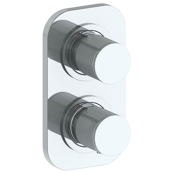 "Watermark 22-T25-TIA Titanium Wall Mounted Mini Thermostatic Shower Trim With Built-In Control 3-1/2"" X 6-1/4""."